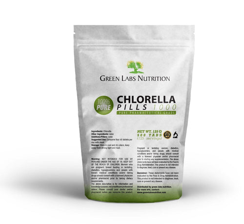 Chlorella Organic Superfood Tablets - Green Labs Nutrition