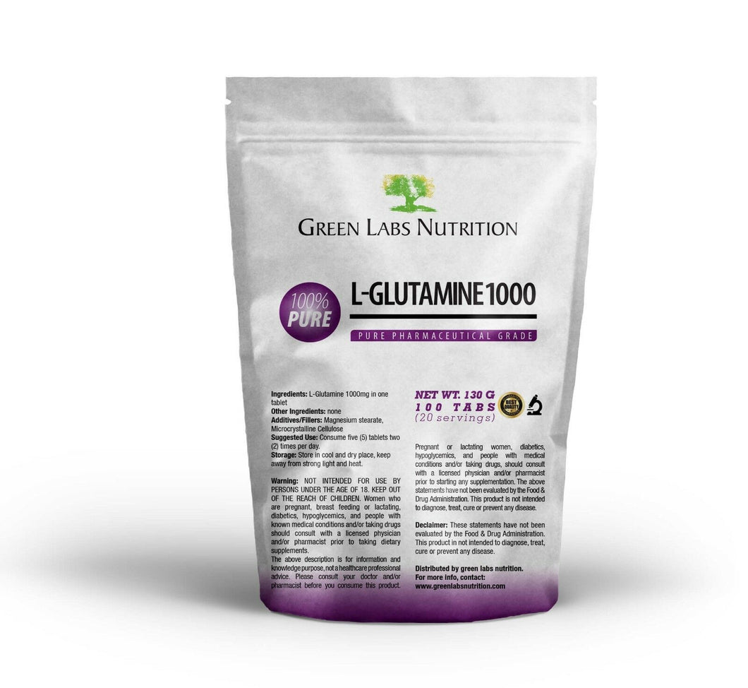 L-Glutamine 1000mg Tablets - Green Labs Nutrition
