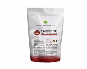 Caffeine Pills 200mg Tablets - Green Labs Nutrition