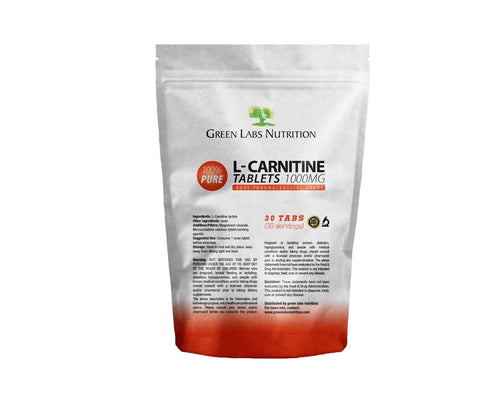 L-Carnitine 1000mg Tablets - Green Labs Nutrition