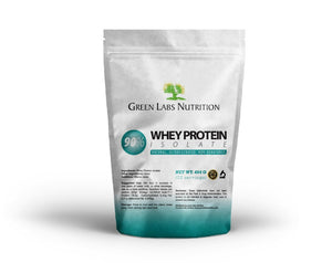 Whey Protein Isolate WPI 90% Pure Powder Unflavored - Green Labs Nutrition