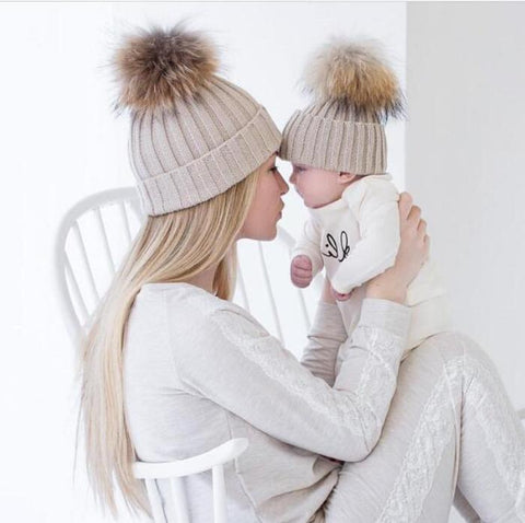Matching Knitted Warm Beanie