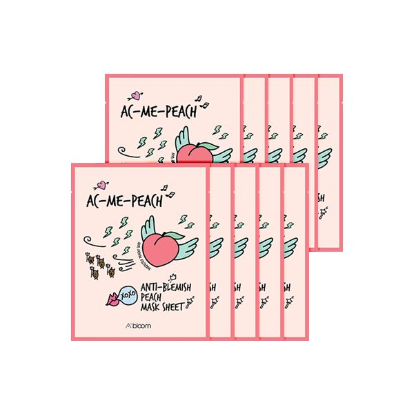 AC-Me-Peach Anti-Blemish Peach Mask (10 Sheets) A'BLOOM  ?id=15298135064655