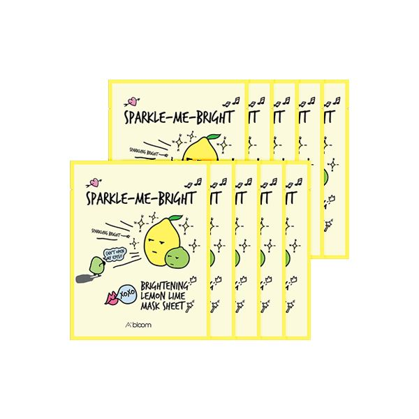 Sparkle-Me-Bright Brightening Lemon Lime Mask (10 Sheets) A'BLOOM  ?id=15298014707791
