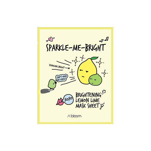 Sparkle-Me-Bright Brightening Lemon Lime Mask (1 Sheet) A'BLOOM  ?id=15297987903567