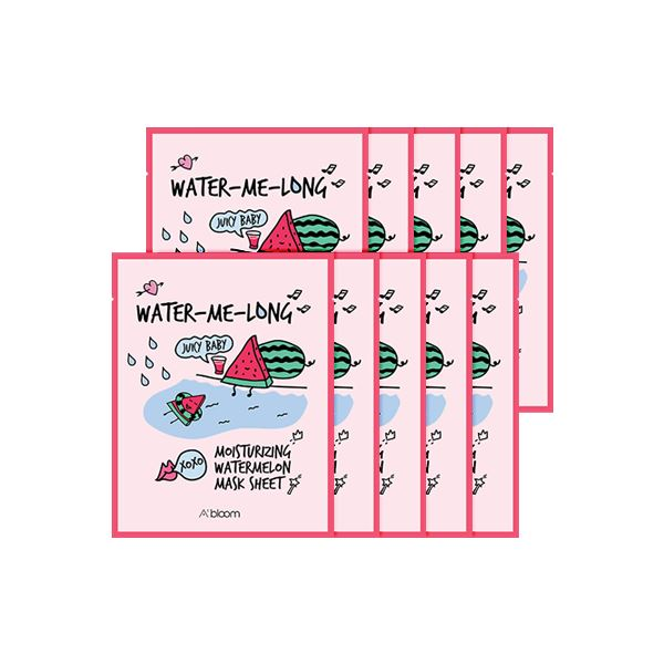 Water-Me-Long Moisturizing Watermelon Mask (10 Sheets) A'BLOOM  ?id=15298022703183