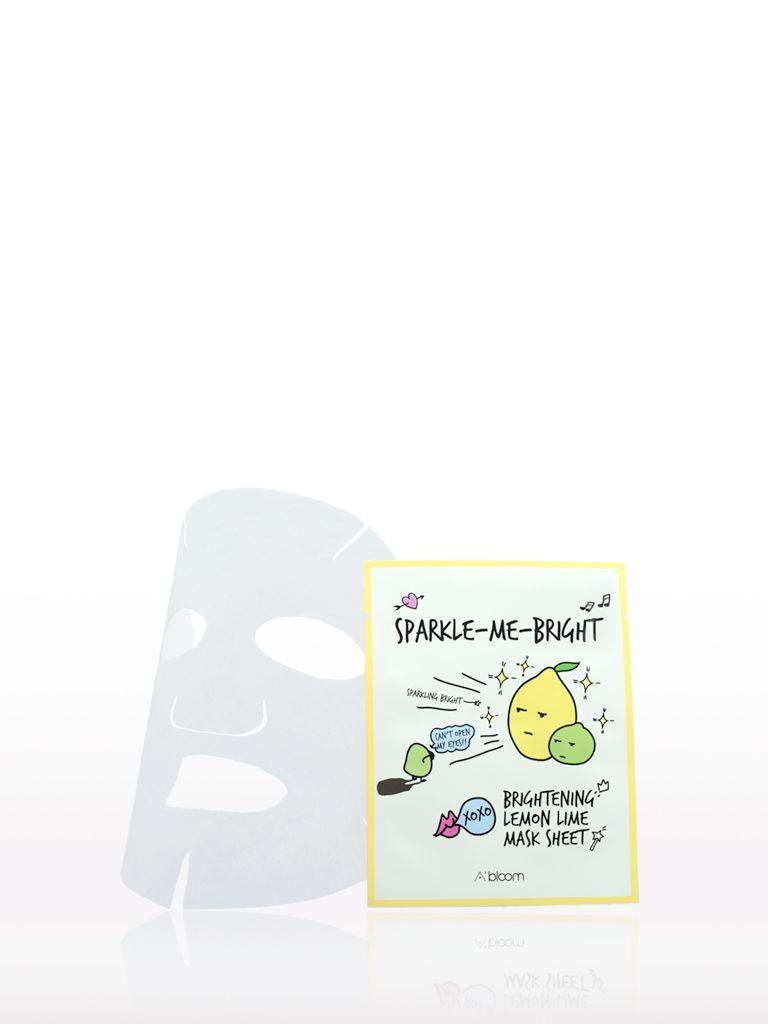 Sparkle-Me-Bright Brightening Lemon Lime Mask (10 Sheets) A'BLOOM  ?id=14042278723663