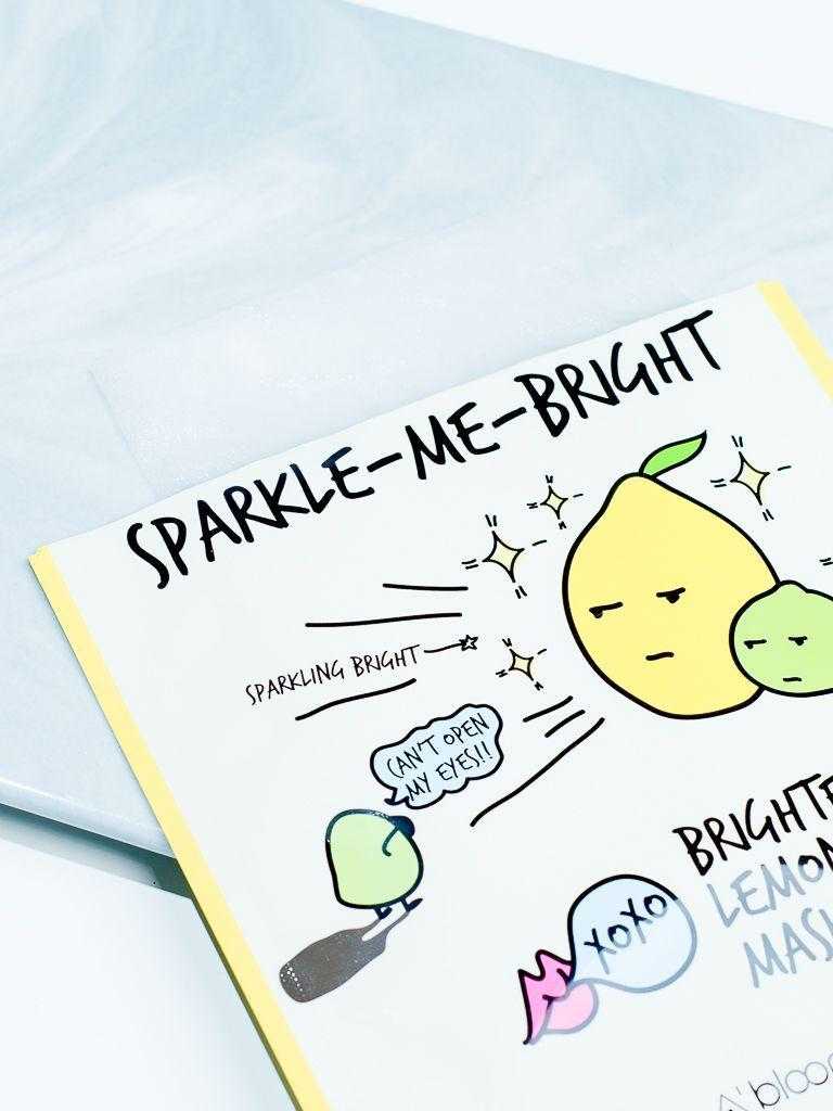 Sparkle-Me-Bright Brightening Lemon Lime Mask (10 Sheets) A'BLOOM  ?id=14042278690895
