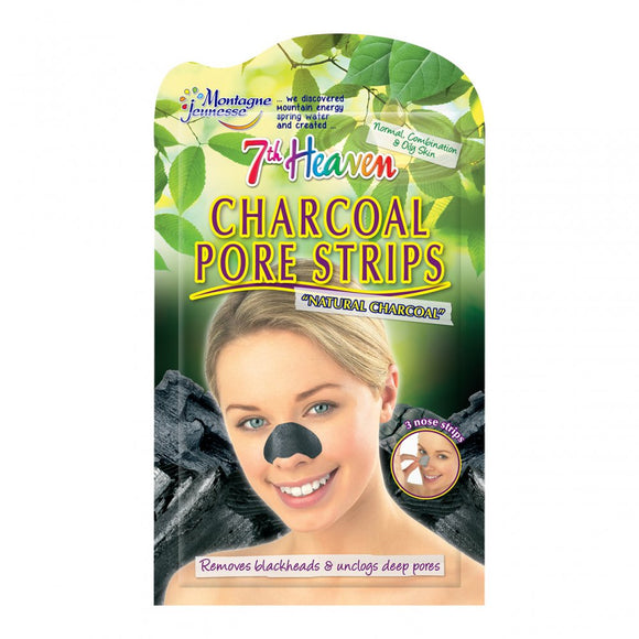 7th Heaven Montagne Jeunesse Charcoal Nose Pore Strips