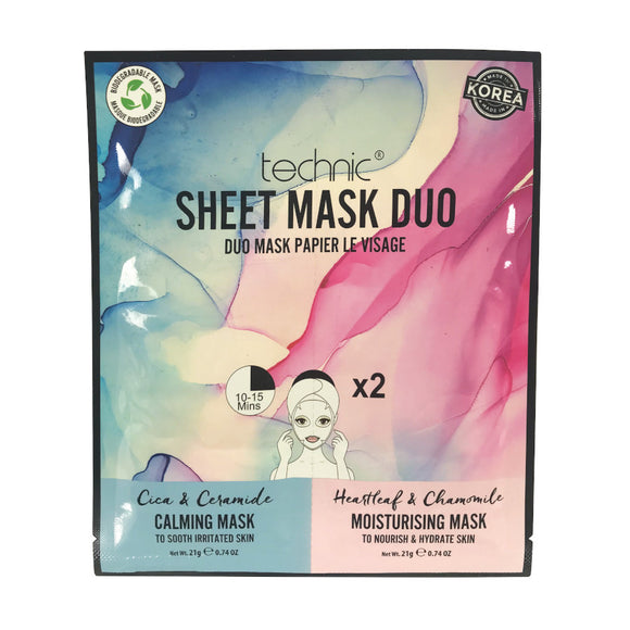 Technic Calming & Moisturizing Sheet Mask Duo