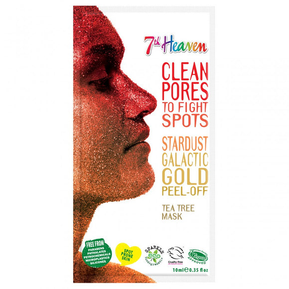7th Heaven Stardust Galactic Gold Peel Off Face Mask