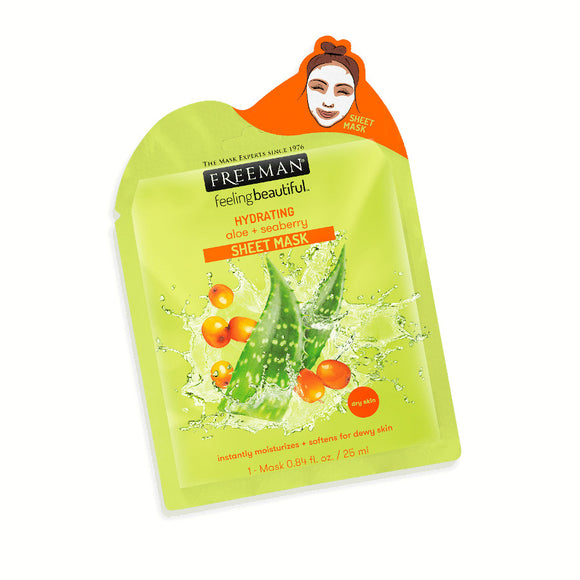 Freeman Hydrating Aloe + Seaberry Sheet Mask - 25ml
