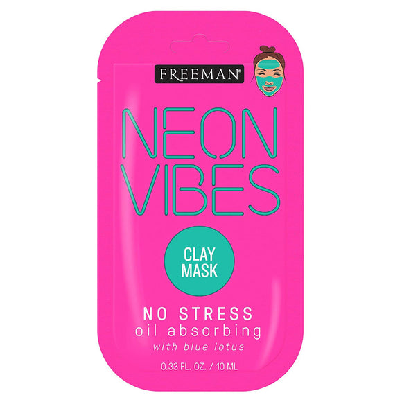Freeman Neon Vibes No Stress Clay Mask Sachet