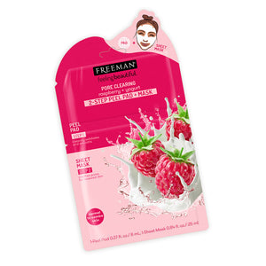 Freeman Pore Clearing Raspberry + Yogurt 2-Step Peel Pad + Mask