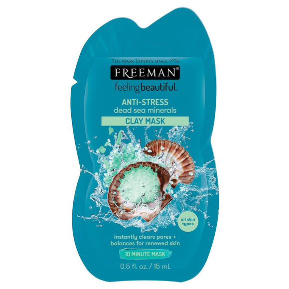 Freeman Anti-Stress Dead Sea Minerals Clay Mask Sachet - 15ml