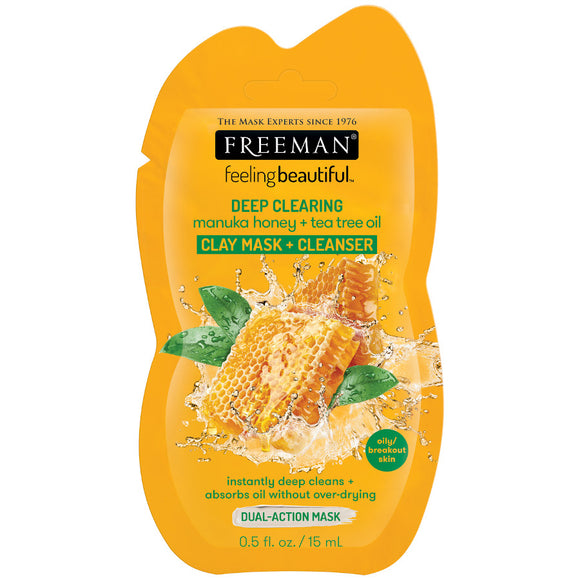 Freeman Deep Clearing Manuka Honey + Tea Tree Oil Clay Mask + Cleanser Sachet - 15ml