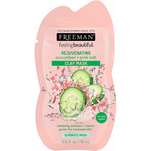 Freeman Rejuvenating Cucumber + Pink Salt Clay Mask Sachet - 15ml