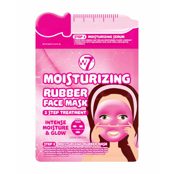 W7 Moisturizing 2 Step Treatment Rubber Face Mask