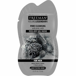 Freeman Pore Cleansing Volcanic Ash Peel-Off Gel Mask For Men Sachet - 15ml