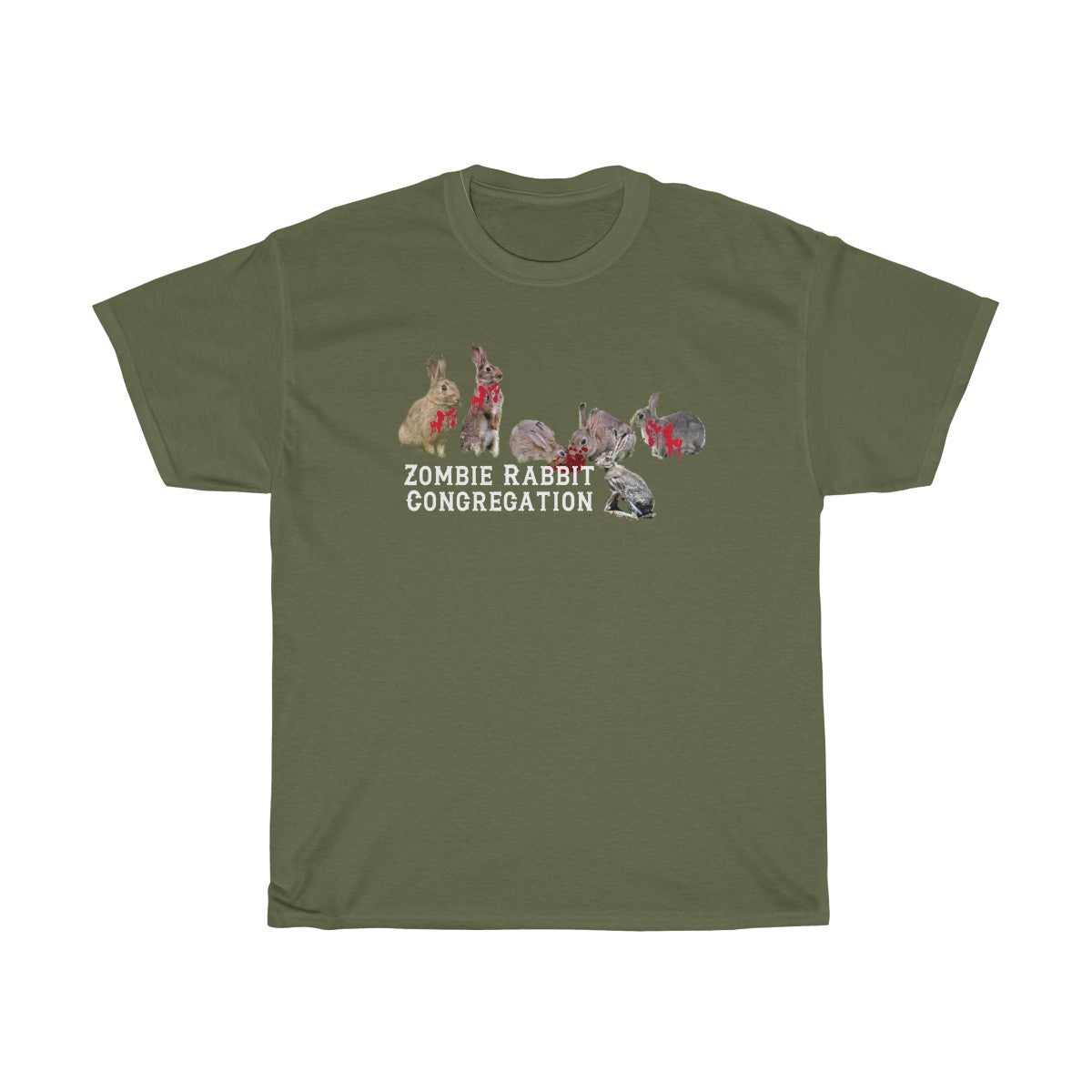(Zombie Rabbit Congregation) Unisex Heavy Cotton Tee - lol - LOL, I Need that! LLC