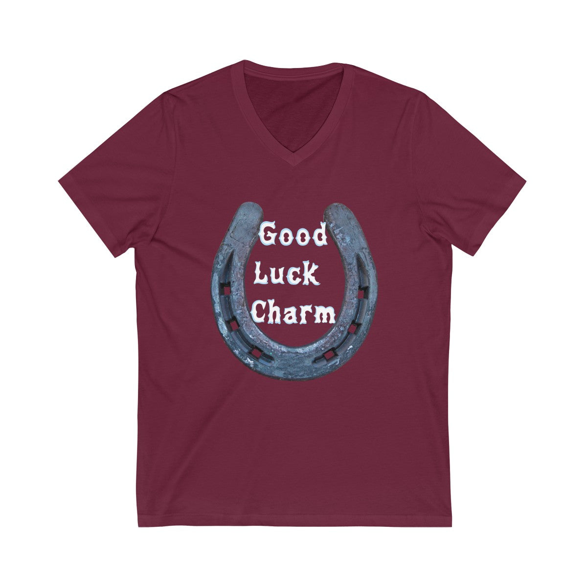 (Good Luck Charm) Unisex Jersey Short Sleeve V-Neck Tee - LOL, I NEED That!