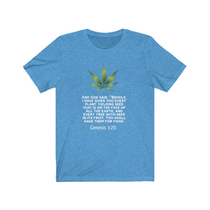 (Genesis 1:29) Unisex Jersey Short Sleeve Tee - LOL, I NEED That!
