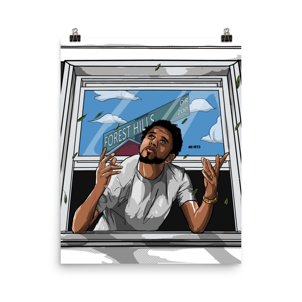 The J. Cole Forest Hills Drive Poster - AKARTS