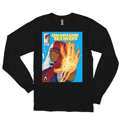 The Megan Thee Stallion HotGirl Academia Long Sleeve Tee - AKARTS