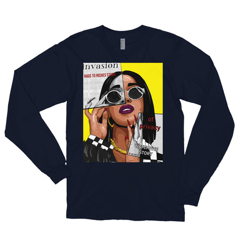 The Cardi B Long Sleeve Tee - AKARTS