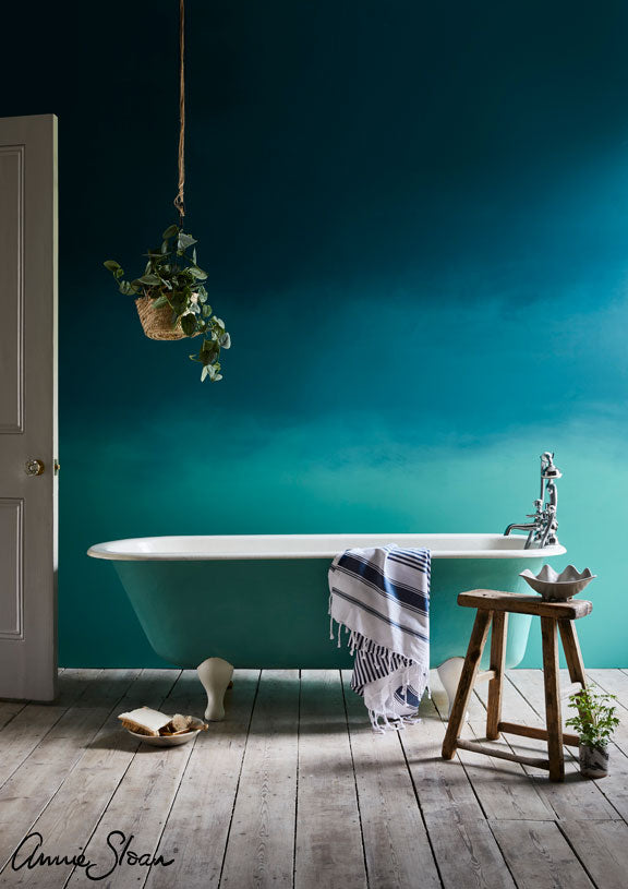 Ombre Bathroom