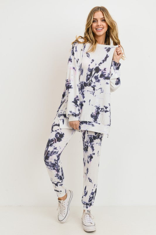 Tie-Dye Cashmere Brushed Joggers