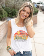 Desert Dreams Perfect Tank Graphic Tee