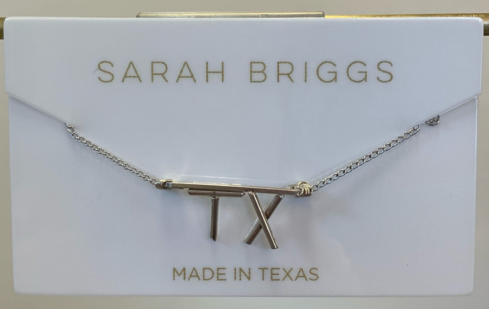 Hometown Pride TX Initial Necklace in Sterling