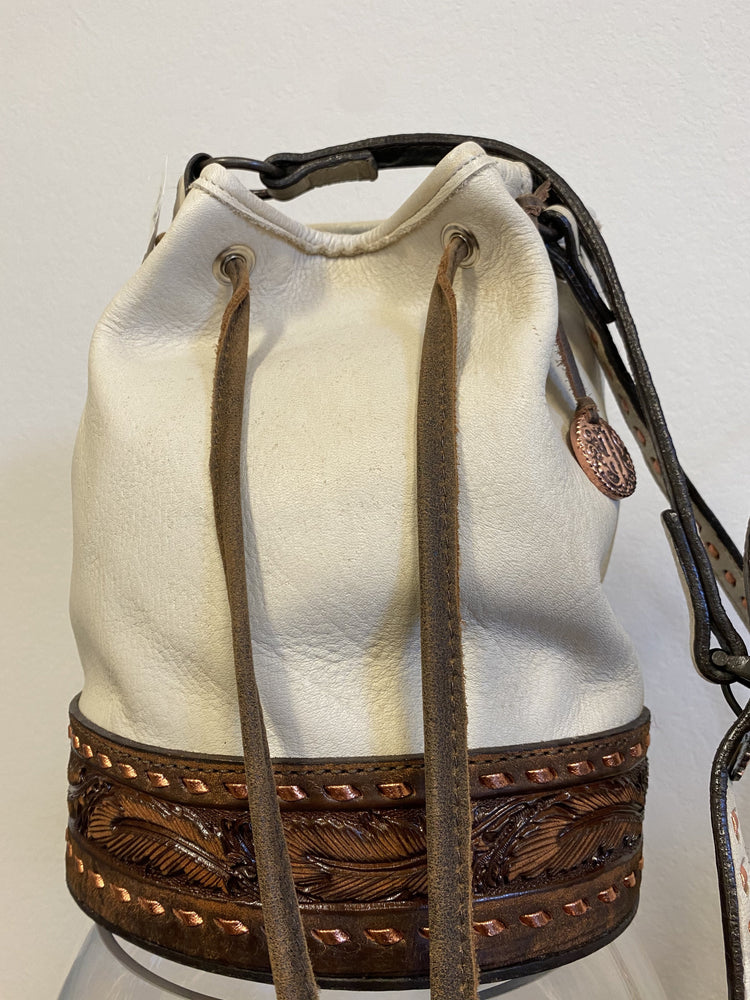 Smoked White Elk Barrel Bag