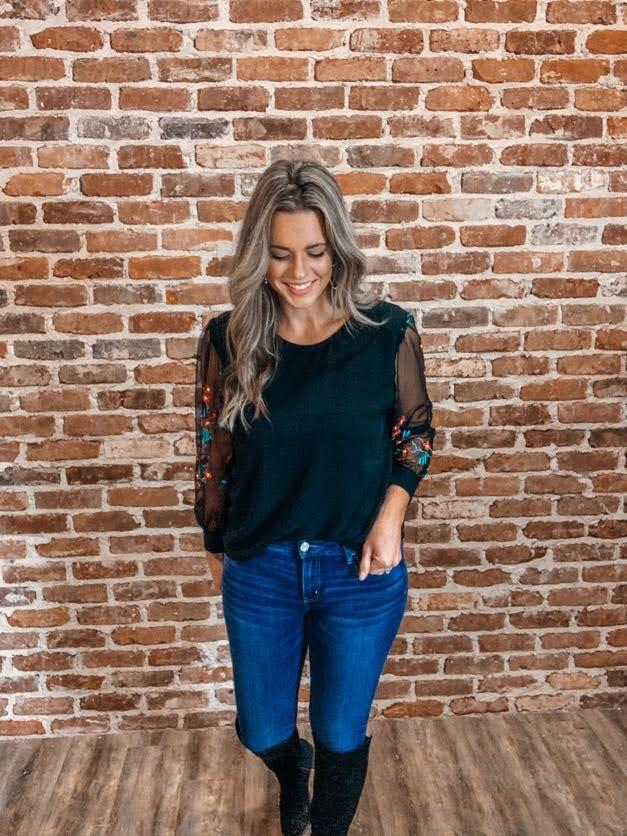 Working Girl Embroidered Top