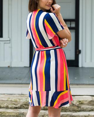 Statement Stripe Wrap Dress™