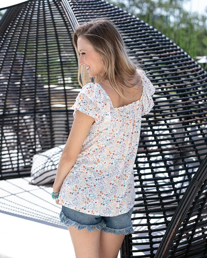 Summer Ditsy Floral Top