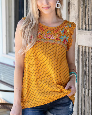 Summer Embroidered Top