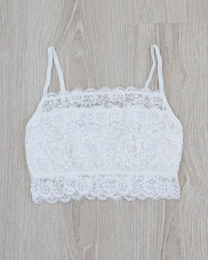 Scalloped Lace Bralette- Ivory