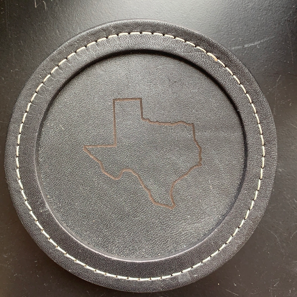"Leather 4"" Coaster"