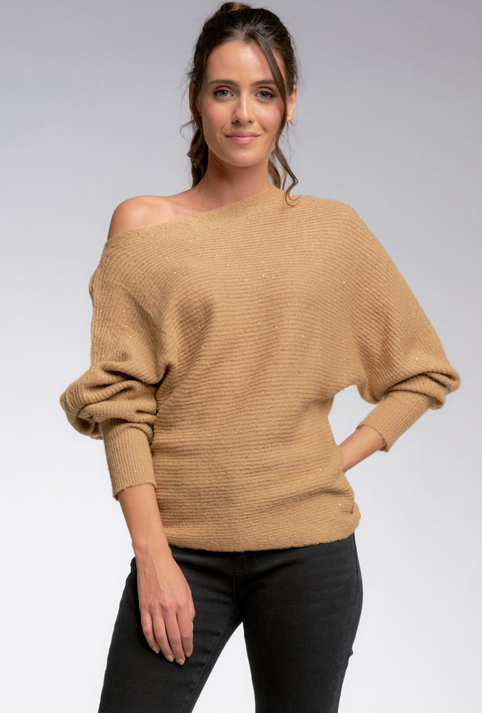 Latte Sequin Sweater