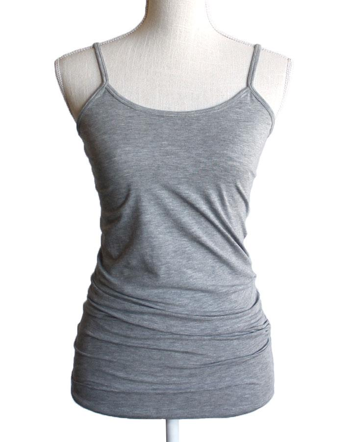 Perfect Fit Spaghetti Strap Tank - Heather Grey