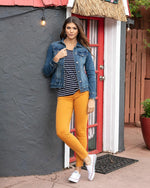 colored jeggings - Mustard