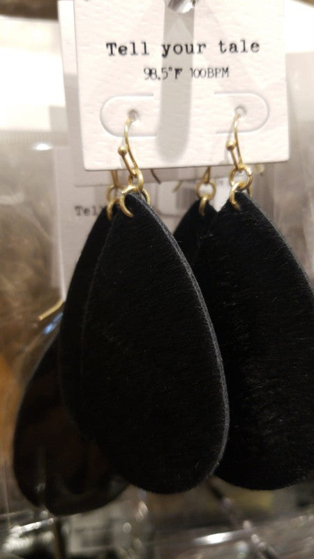 Faux Fur Teardrop Earring