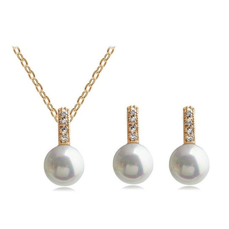 Big Pearl Earring & Necklace Set