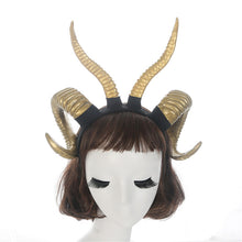 Load image into Gallery viewer, Sheep Horns Headpiece