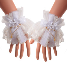 Load image into Gallery viewer, Lolita Lace Cuffs Victorian Style in Black or White