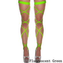 Load image into Gallery viewer, Thigh Stockings Gothic Cross Bandage Leg Wrap