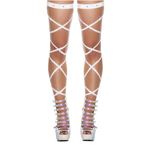 Thigh Stockings Gothic Cross Bandage Leg Wrap