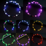 LED Light Up Flower Crown in 8 Colors